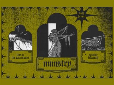 Ministry music poster music industrial goth helmet band poster ministry design poster design collage typography show poster art direction digital design graphic design