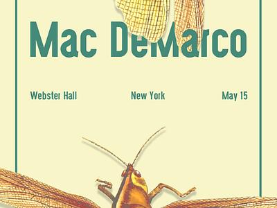 Mac Demarco art direction graphic design concert flyer bugs poster flyer new york webster hall show flyer mac demarco