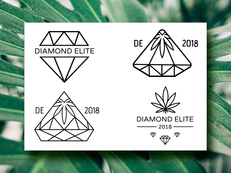 Diamond Elite Logo Iterations