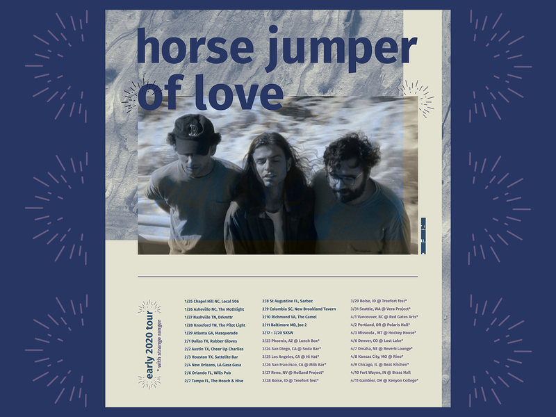 horse jumper of love tour poster