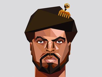 Ice Cube ice cube cali nwa gold rap illustration polygon california la music hip hop rapper