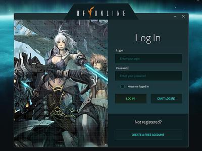 RF Online Launcher ui gui sci-fi application launcher rf rfonline game launcher mmmorpg