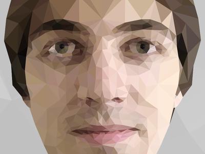 Low poly self-portrait