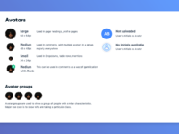 Design system   avatars