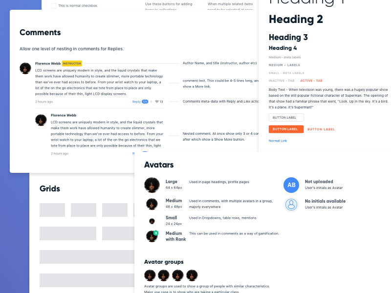 Design system components collage 0.5x