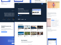 Learning platform - Landing page
