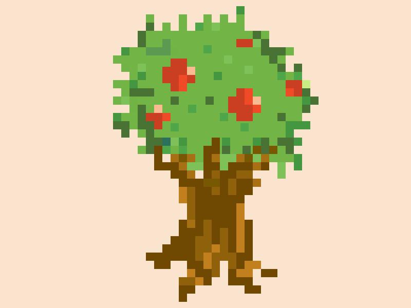 Tree 🌳 retro shrubs tree 8-bit