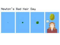 8-bit Newton Comic Strip