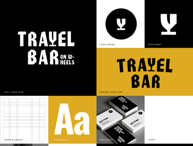 Travel Bar Branding logo brand identity logodesign