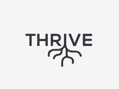 Thrive Logo branding marketing design logo design roots tree t logo t logo
