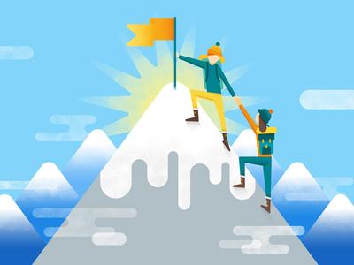 Reaching the Summit! Hello Dribbble!