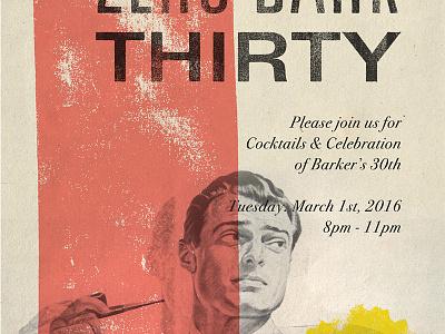 Zerobarkthirty party saul bass 1950s invitation