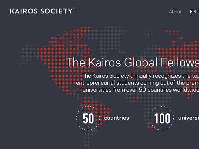 Kairos Society web redesign entrepreneurs global kairos design web design