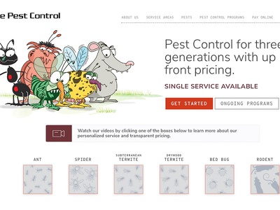 Burge Pest Control site redesign entrepreneurs global pest control burge design web design