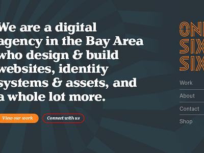 onesixtysix website studio design front-end web