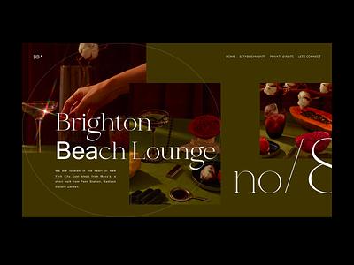 Brighton  Beach Lounge homepage interface minimalism website web minimal clean ux design ui bar