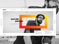 Site concept for a web designer
