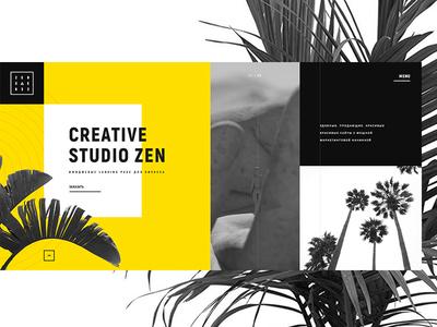 Landing Zen Studio web design ui ux minimalistic homepage landing design clean