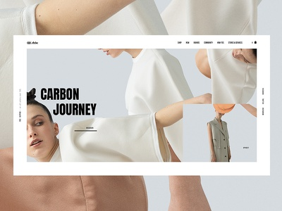 Carbon  Journey minimalistic geometric color collection art userinterface typography homepage minimalism fashion interface landing website web minimal clean ux design ui