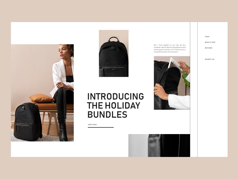 ISM art minimalistic color typography geometric fashion homepage minimalism interface website web minimal clean ux design ui
