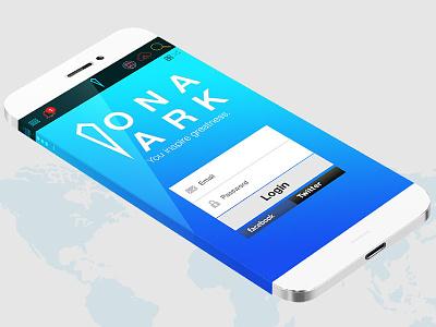 Ona Ark App design website appdesign forms ui login