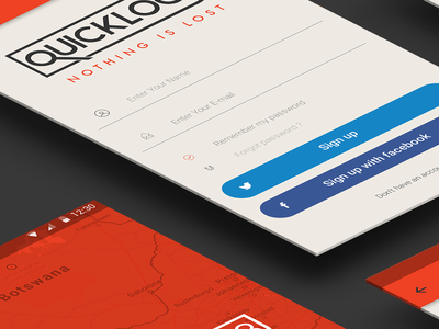 Quicklock8 App Mockup Ui flat ui branding design app mobile