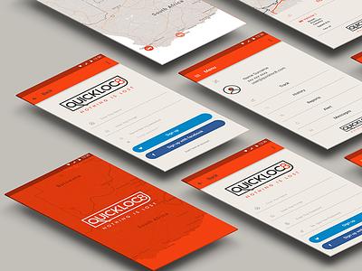 Quickloc8 Tracking App direction art design ui tracking app