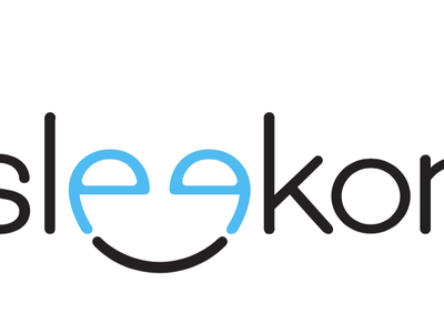 Sleekon Logo smile logo typography branding