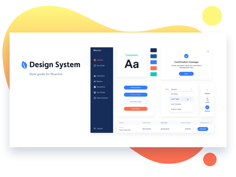 Design Guideline   Cover design visual design uxui design design system bluevine
