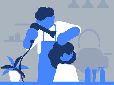 Hairdressing flat design illustration
