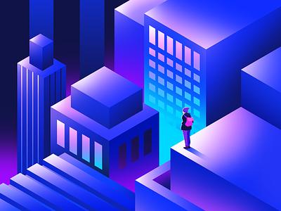 Practice 2.5d 3d architecture illustration colour