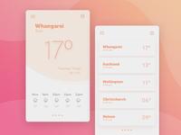 Weather widget concept