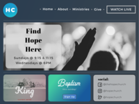Church Web Design UI 💡
