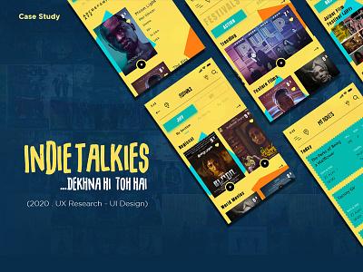 Indie Talkies user experience design userinterface uxdesign