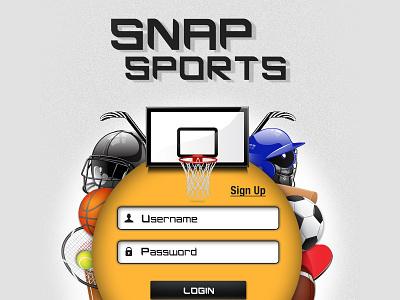 Snap Sports login screen live streaming app sports