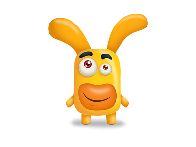 Character character kids parental controle yellow bunny funny sweet illustration