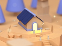 Town coloured dribbble
