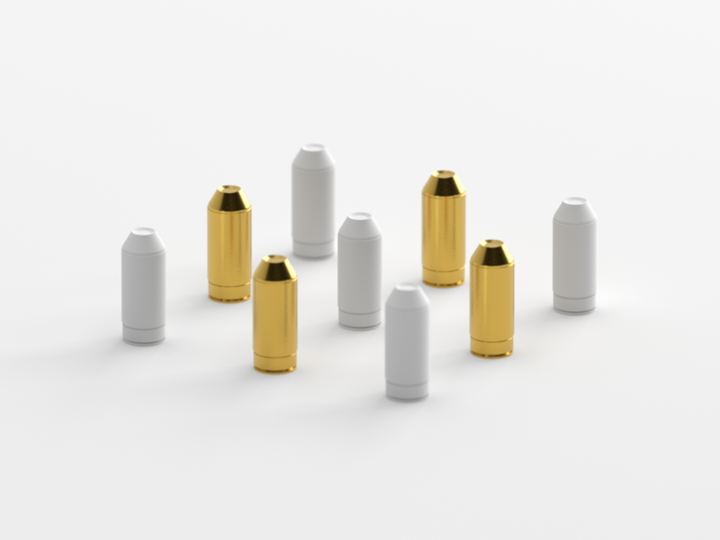 Bullets lowpoly illustration icon modelling c4d gold shiny 3d bullet