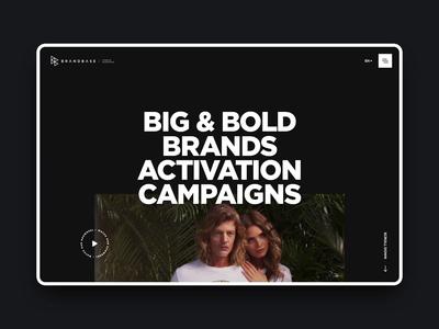 BrandBase - Website Redesign uxui typography ui design ux clean dark animation ui landing website digital