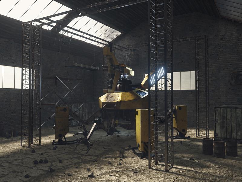 RL01 - 3D Robot 3d artist mecha mech grunge robot octanerender octane maya cinema4d 3d art 3d render artwork digital