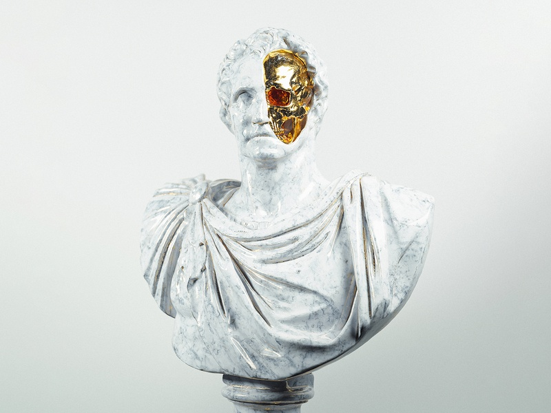 Kill Your Idols | Part II gold idols cinema4d octanerender octane statue skull 3d render artwork digital
