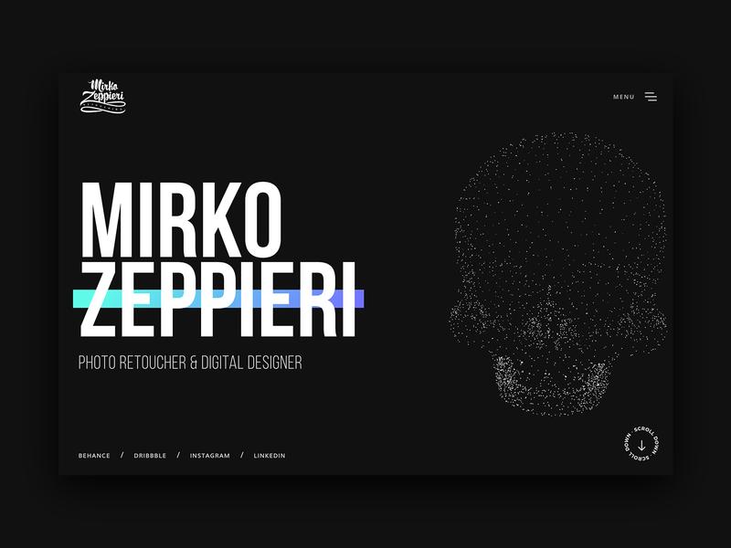 Mirko Zeppieri | Portfolio Website typography ui semplice digital design ui design skull website landing dark