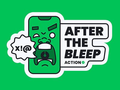After the Bleep logo figma illustration sticker branding