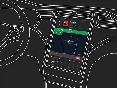 Safe Car UI console ui car