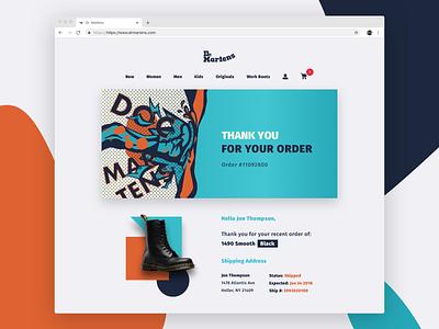 Dr. Martens - Receipt dailyui ui illustation landing page shoes redesign website receipt