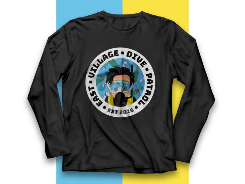 East Village Dive Patrol branding apparel logo tshirt art tshirt