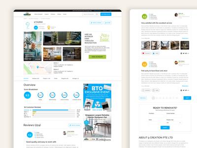 Renonation - Website Redesign (Design Company profile page)