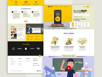Rebox - Website design