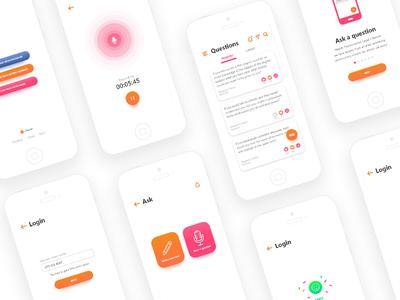 Virtual Assistant mobile app iphonex ux design app ui android ios assistant virtual