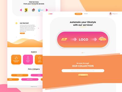 Utility Website Concept business desktop design ux ui web utility